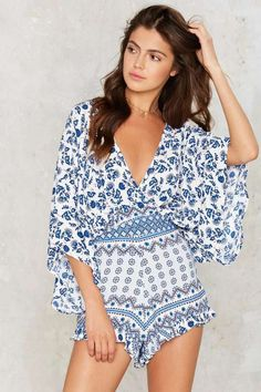 Factory Malin Plunging Romper