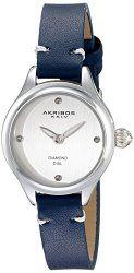 Akribos XXIV Women's AK750BU Analog Display Japanese Quartz Blue Watch