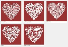 Personalised lace heart framed papercut picture perfect by AHOPZ