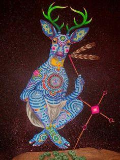 Gods Of America, African Crafts, Deer Tattoo, Deer Art, Mexican Designs, Mandala, Visionary Art, Sacred Art, All Art