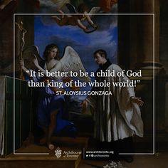 St. Aloysius Gonzaga, pray for us! #memorial #catholic