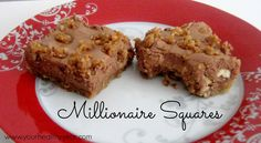 Millionaire Squares Recipe - Delicious and easy! We make these all the time and they always please the family! Perfect for holidays and bake sales too!