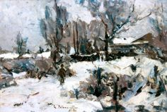 Iarna Subic, Renoir, Snow, Artist, Europe, Painting, Outdoor, Czech Republic, Slovenia