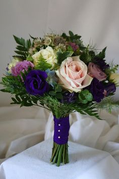 Amazing bridal bouquet styled with Sweet Avalanche by Meijer Roses. Designed by Green Room Flowers