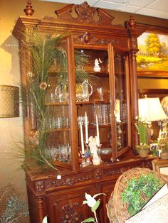 Beautiful French antique china cabinet