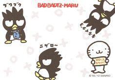 Kawaii memo paper - Badbadtz Maru - Sanrio