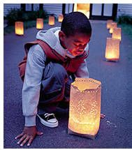 winter solstice luminaria