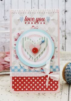 Love You Forever Card by Melissa Phillips for Papertrey Ink (February 2014)