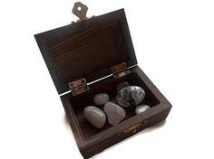 Meditation Stones | Healing Crystals | Manifesting Box | Intention Box | Spiritual Tools | Law of Attraction | Tumbled Gemstones
