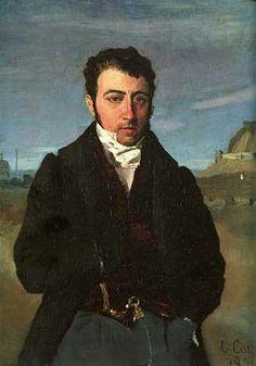 François-Auguste Biard muotokuvassa, jonka maalasi Jean-Baptiste Corot.