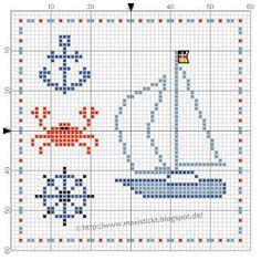 Nautical free cross stitch pattern