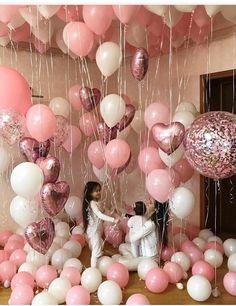 Full of balloons