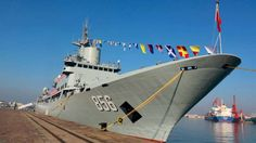 The new ship, the CNS Kaiyangxing, is one of the PLA Navy's six electronic reconnaissance vessels. Photo: Handout