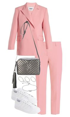 """""""Untitled #4572"""" by theeuropeancloset on Polyvore featuring MSGM, adidas, Yves Saint Laurent, ASOS and Monica Vinader"""
