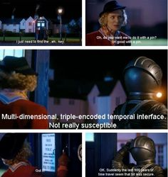 She just picked the the TARDIS... That's embarrassing.