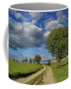 Summer Way Coffee Mug by Ren Kuljovska.  Small (11 oz.) Mugs For Sale, Fine Art America, Coffee Mugs, Tapestry, Ceramics, Summer, Home Decor, Hanging Tapestry, Ceramica