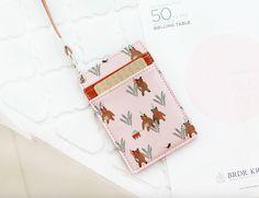 ID Card Holder / Transportation Card Holder [ Pink Bear ] / 101669788 by DubuDumo on Etsy