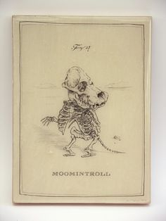 Moomintroll Skeleton Panel by mpaulus on Etsy, $57.00