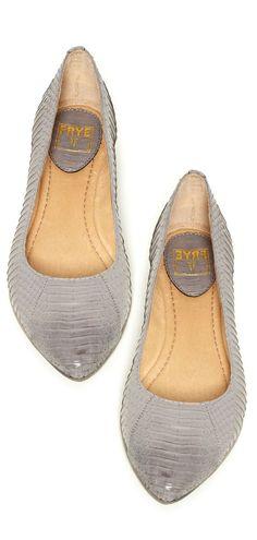 Gray Leather Ballet Flat ❤︎