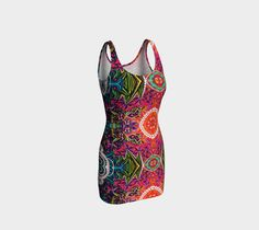 Festival bodycon dress, Bodycon Dress by Iz FromEarth. Make a statement with an artwork printed dress. Made in micro-knit fine smooth fabric Bodycon Dress, Island, Knitting, Fabric, Clothes, Dresses, Tejido, Outfits, Vestidos