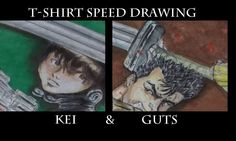 Imperfect squares: Horror Anime Anti heroes on a T-shirt : Kei and Guts
