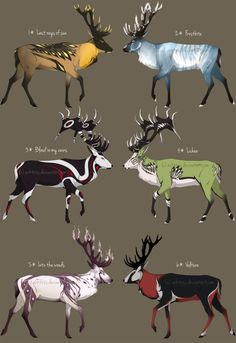 Deers adoptables I - CLOSED by Arktoss on DeviantArt