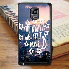 All Time Low City Night Music Qoutes Samsung Galaxy Note 3 Case