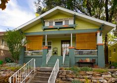 Green Craftsman Bungalow House by Photo Dean, via Flickr