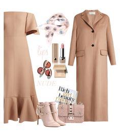 """elegant in nude Valentino"" by katymill ❤ liked on Polyvore featuring Valentino, jibuu, Marc Jacobs, Nude by Nature, Bobbi Brown Cosmetics, valentino, nude, ROCKSTUD and nudelip"