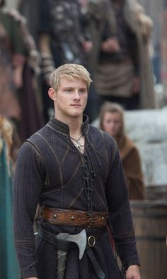 Bjorn from Vikings.  Handsome!