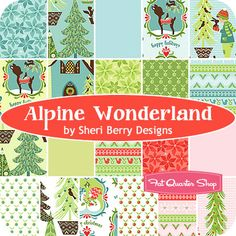 Looking at xmas fabric already! : ) I like this Alpine Wonderland by Sheri Berry for Riley Blake. Due in May 2012