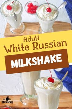 This White Russian Alcoholic Milkshake Is A Great Way To Booze Up A Classic Milkshake All The Flavors Of The Classic Cocktail, But With That Ice Cream Yumminess. Whipped Cream, Cherries, Kahlua, And Vodka Via Ramshacklepantr Alcoholic Ice Cream Drinks, Alcoholic Milkshake, Milkshake Recipes, Classic Cocktails, Fun Cocktails, White Russian Recipes, White Russian Ice Cream Recipe, Spicy Candy, Deserts