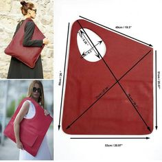 Image may contain: 1 person Leather Bags Handmade, Handmade Bags, Leather Craft, Diy Tote Bag, Diy Purse, Bead Bottle, Leather Bag Pattern, Bag Patterns To Sew, Fabric Bags