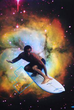 Supernova Surfer, John Turck Collage