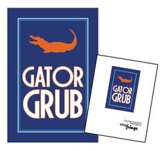 Gator grub! Perfect printable sign for tailgate table