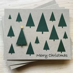 Simple, rustic, and elegant set of Christmas cards. This Christmas card set is perfect to have on hand this holiday season or to give out to friends, family, & co-workers. THE DETAILS - Set of 8 cards Christmas Card Crafts, Homemade Christmas Cards, Christmas Cards To Make, Christmas Activities, Handmade Christmas, Homemade Cards, Holiday Crafts, Christmas Tree, Simple Christmas