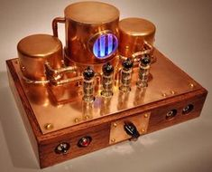 """Vintage Style - Copper Steampunk K-12G Tube Amp Kit - DIY Audio Projects""!... http://about.me/Samissomar"