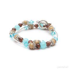 Glass Beaded Memory Wire Bracelet Beaded memory... | PandaHall Beads Jewelry Blog