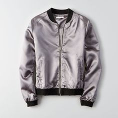 American Eagle Outfitters Don't Ask Why Metallic Bomber - ShopStyle Jackets Hipster Outfits, Casual Outfits, Cute Outfits, Metallic Bomber Jacket, Leather Jacket, T Shirt Custom, Bomber Jacket Outfit, Mens Outfitters, Eagle Outfitters