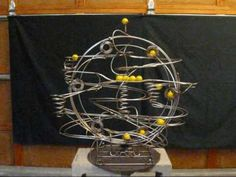 Stephen Jendro Rolling Ball Sculpture - Kinetic Stainless Steel Metal Ar...