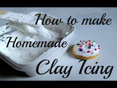 How to make Homemade Clay Pastry Icing/Frosting – Hobbies paining body for kids and adult Polymer Clay Miniatures, Polymer Clay Crafts, Diy Clay, Dollhouse Miniatures, Frosting Für Cupcakes, Icing Frosting, How To Make Clay, How To Make Homemade, Graham Crackers