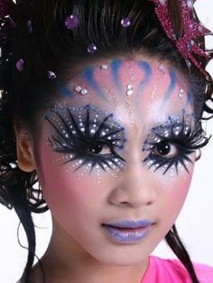 fantasy makeup ideas. fantasy-potential shading for cat, or flowers..etc