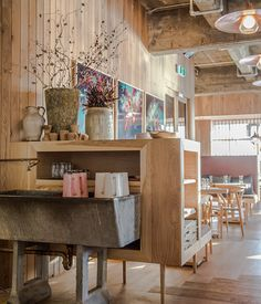 This is the incredibly beautiful Oaken  eatery, in Auckland's Britomart precinct. Scandinavian (oiled b...