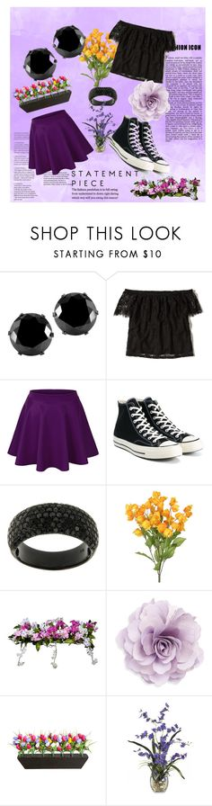 """Untitled #146"" by weirdoqueen on Polyvore featuring West Coast Jewelry, Hollister Co., Converse, Improvements and Cara"