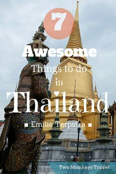 / AWESOME THINGS TO DO IN BANGKOK. The bustling city of #Bangkok can be overwhelming to some. However, if you know where to go the city is interesting, beautiful and a little less chaotic. #ThingsToDo #Itinerary #Thailand #TwoMonkeysTravelGroup