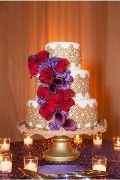 Regal Wedding Cake / Melissa Musgrove Photography / via StyleUnveiled.com