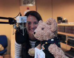 Binky Bear meets Alina Jenkins of the BBC.  October 2012.