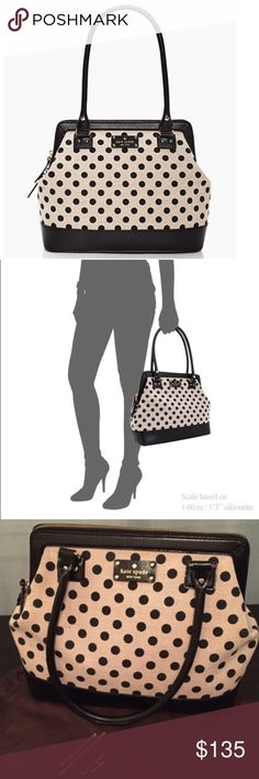 Kate Spade Belltown Ashlyn Polka Dot Satchel In excellent used condition! The outside & inside are spotless, the only slight wear is on the bottom (shown in picture). Dust bag not included! kate spade Bags Satchels