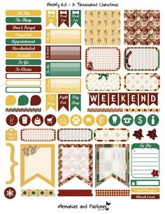 December Weekly Kit Planner Sticker Set - A Treasured Christmas