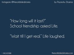 """""""Wait till I get real"""" laughed shyma * Story Quotes, Bff Quotes, Best Friend Quotes, Friendship Quotes, Wisdom Quotes, True Quotes, Qoutes, Quotations, Tiny Stories"""